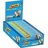 PowerBar Protein Plus Riegel mit nur 107 Kcal – Low Sugar Eiweiß-Riegel, Fitness-Riegel mit Ballaststoffen – Chai Latte Vanilla (30 x 35g)