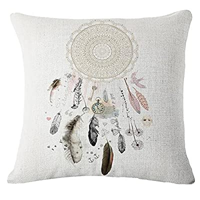 Bluelans® Dream Catcher Cotton Linen Square Cushion Cover Pillow Case Home Sofa Bed Car Decor