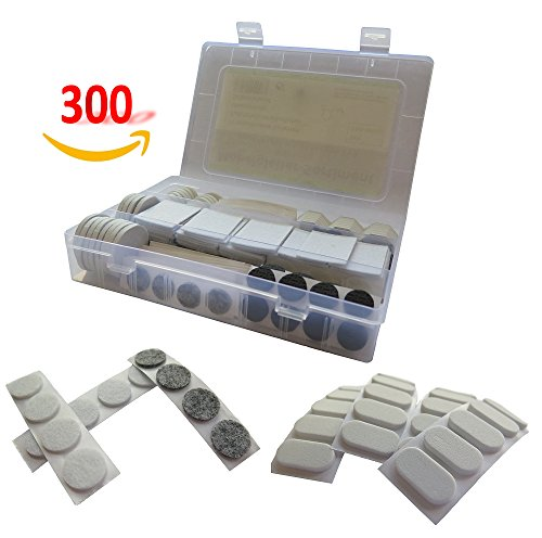 Möbelgleiter Filzgleiter selbstklebend Bodengleiter Stuhlgleiter Sortiment 300-teilig weiß schwarz grau selbstklebend Box