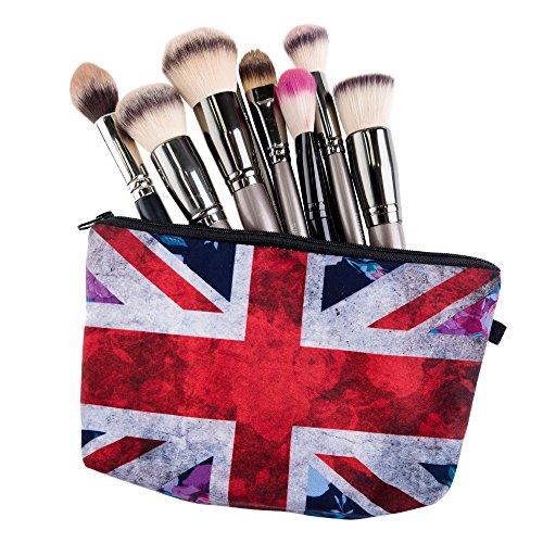 e Schönheit Make Up und jegliche Nutzung, Erwachsene und Kinder, Polyester, Design Flagge UK Union Jack (Nette Make-up Ideen Für Kinder)