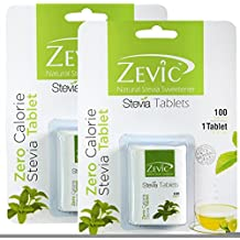 Zevic Stevia Sugarfree Tablets - 200 Tablets (Pack of 2)