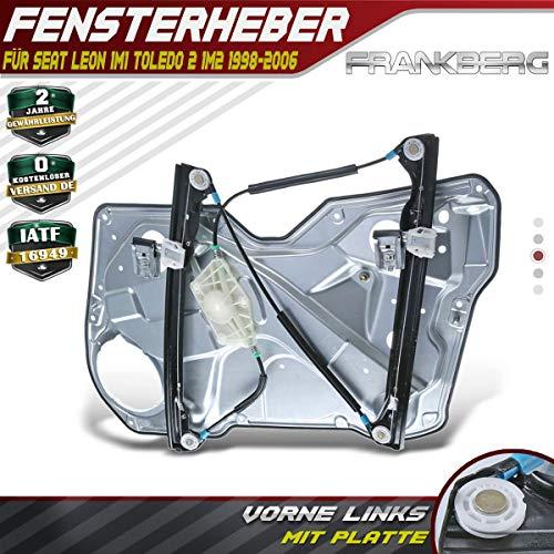 Frankberg Fensterheber Ohne Motor Mit Grundplatte Vorne Links für Leon 1M1 Toledo II 1M2 1998-2006 1M0837461A
