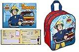 Feuerwehrmann Sam Rucksack Kindergartenrucksack 28x22x10 + Freundebuch (185)