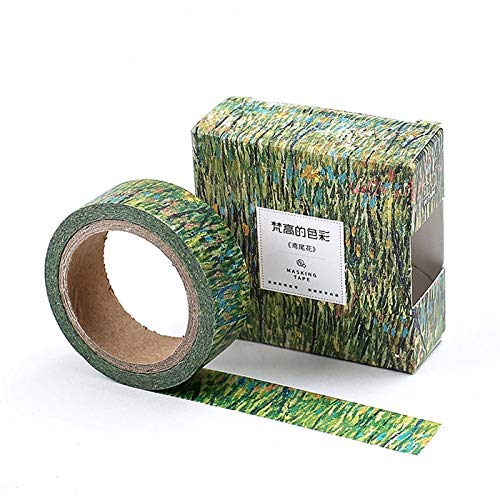 LFDJD Kreative Ölgemälde Abdeckband Dekoration Shop Klebeband DIY Scrapbooking Aufkleber Label Schreibwaren Iris -