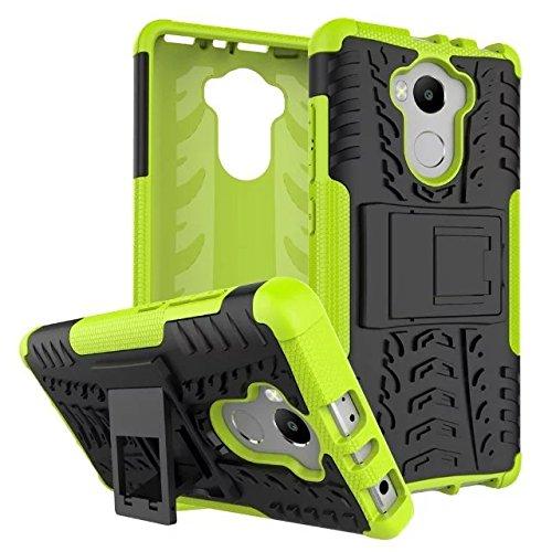 JDDRCASE Handy Zubehör Hüllen, Dual-Layer-Hybrid-Rüstungsfall Abnehmbarer Kickstand 2 In 1 Stoßfestes, Robustes Gehäuse Für Lenovo A7010 (Farbe : Schwarz)