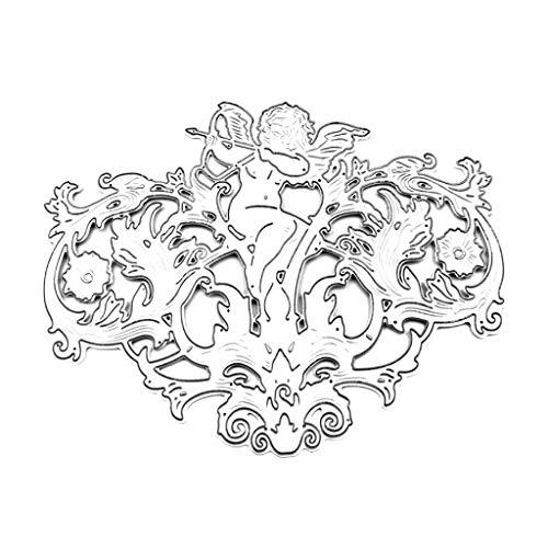 ❤Chaunce DIY kohlenstoffstahl schöne bogenschießen Engel schneiden Form eingebettet stahlplatte Form Papier Handwerk manuskript Buch Karte Dekoration