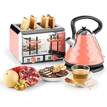 klarstein aquavita retro fr hst cksset wasserkocher toaster wasserkocher mit 1 7. Black Bedroom Furniture Sets. Home Design Ideas