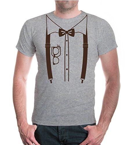 T-Shirt Nerd-Dress-XXXL-Heathergrey-Brown
