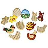 EDUPLAY 210054 Holz Figuren Ostern, Set