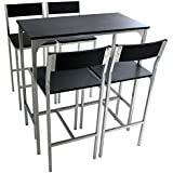 RIMINI - Juego de mesa y 4 sillas de cocina