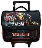 Cartable à roulettes Transformers marque Hasbro en noir pour les enfants en CE1 et CE2