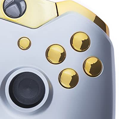 Xbox One Custom Controller - Gloss Silver & Gold