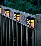 GOESWELL LED Solar Laterne Gartenleuchte Lights (Leitschiene-Warm Weiß)