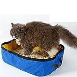 LYAQI Caja de Arena Plegable Baño de Gato portátil saliente, Blue