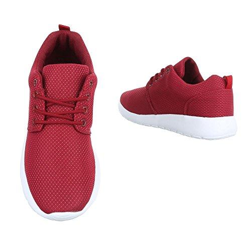 Sneakers Ital-design Scarpe Da Uomo Stringate Basse Stringate Sneaker Vino Rosso