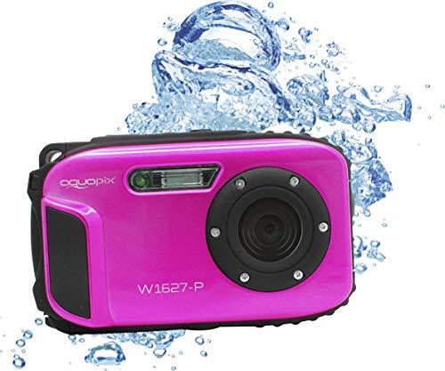 Aquapix W1627 Ocean, Cámara Digital con Batería de Ion de Litio, Rosa