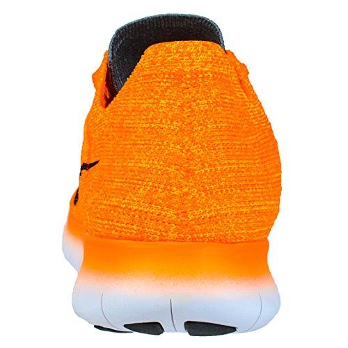 Nike Damen Wmns Free Rn Flyknit Laufschuhe Orange (Lsr Orange / Blck-Gmm Bl-Cl Gry)