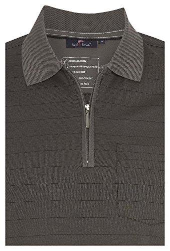 PAUL R.SMITH Atmungsaktives Poloshirt Easy Care - Herren T-Shirt,Polo,Männer,Freizeit,Sommer,Kurzarm, Dunkelgrau