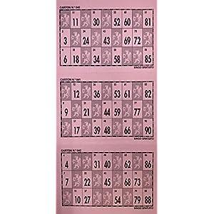 640 Cartones de bingo para tachar