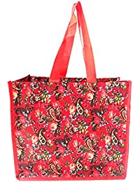 Vegetable Shopping Bag/Fruits Shopping Bag/Groceries Shopping Bag With Multi Pockets (14x12.5x7 Inch) - Red