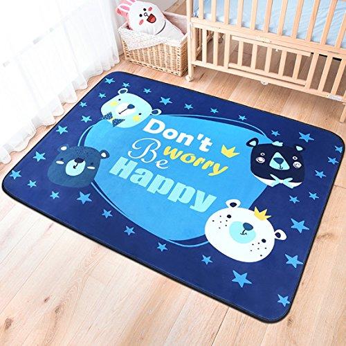 Hmy LRW Kinderzimmer Teppich rechteckige Cartoon Schlafzimmer schleichende Bettwäsche vor dem schönen Wohnzimmer Tee Tisch Nacht Bettdecke (Color : C)