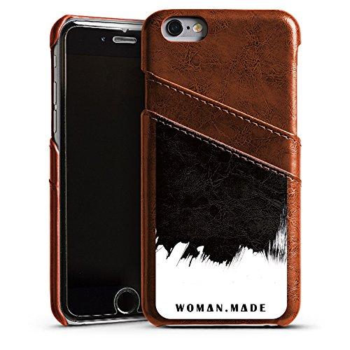 Apple iPhone 5s Housse Étui Protection Coque Motif Motif Peinture Étui en cuir marron