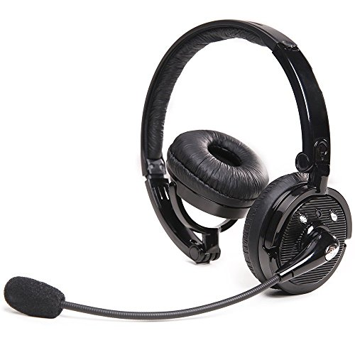 Wireless Bluetooth Headset - Bluetiger Wireless Headset Bluetooth Stereo Kopf faltbare Kopfhoerer Gaming Headset mit Boom flexibles Mikrofon mit Rauschunterdrueckung Technologie - Unterstuetzt Wireless Music Streaming und ruft freihaendig fuer iPhone 6S 6Plus 6 5S 5C 5 4S, Samsung Galaxy Note 5 Note 4 S6 S5, iPad 4, iPad Mini, iPad, iPod air, Macbook iMac, Nokia Lumia 920, Sony Playstation 3 PS3 - Schwarz