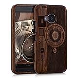 kwmobile HTC One M9 Hülle - Handy Schutzhülle aus Holz - Cover Case Handyhülle für HTC One M9