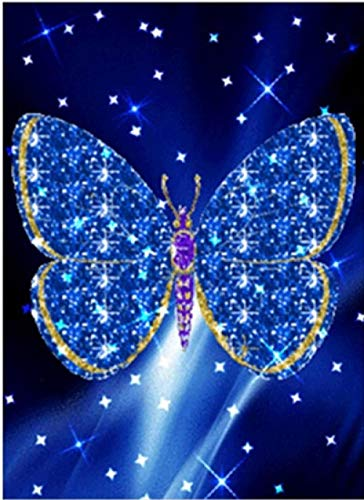 CNLSZM DIY Diamant malerei kreuzstich kit Schmetterling Fantasie Handwerk Handarbeit 5d mosaik Diamant Stickerei runde 30x40cm (Live-schmetterling-kit)