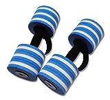 DEHAG Aqua Hantel Basic 11cm - blau-weiß gestreift - Aqua Fitness Wassergymnastik Wassersport - 1 Paar = 2 Stück