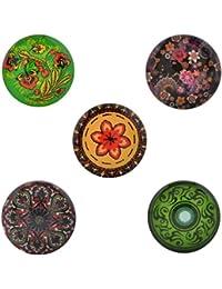 Morella–® Mujer Patrón De Button 5unidades Botones de presión Set Click, plantas y flores