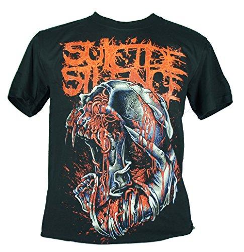 Suicide Silence-Maglietta da uomo nero SS infes Ted Skull Medium Size M