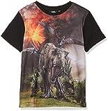 Jurassic Park Jungen T-Shirt Dinosaur Herd Grün (Green) 6-7 Jahre