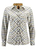 HIS Damen Bluse Flanell Bluse Check offwhite checked S