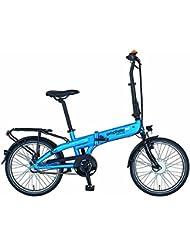 """Prophete E-Bike Alu-Faltrad Navigator 7.2 Elektrofahrrad, Blau Matt, 20"""""""