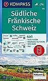 KOMPASS Wanderkarte Südliche Fränkische Schweiz: 4in1 Wanderkarte 1:50000 mit Aktiv Guide und Detailkarten inklusive Karte zur offline Verwendung in ... (KOMPASS-Wanderkarten, Band 171) -