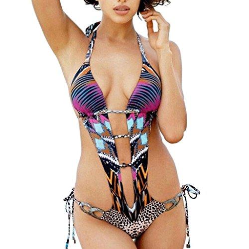 PRIDE S Siamese Bademode Frau Leopard Hollow Badeanzug Bikini Bunte