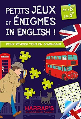 Harrap'S Petits Jeux et Petites Enigmes 100 % British 6-5 - Cahier de vacances par Sandra Lebrun