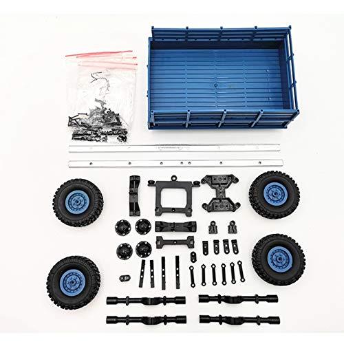 JVSISM Für Wpl Rc Auto Zubeh?r DIY 4 Rad Trailer Truck GAZ Truck Auto Teil Ersatz (Blau) (Rc Trucks Für Verkauf)