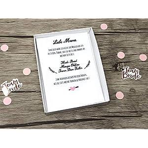 Hochzeit Geschenk Brautmutter mit Text - Stofftaschentuch für Freudentränen