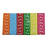 #4: Assorted Coloured Printed Net Fabric Ribbons : Size: 1