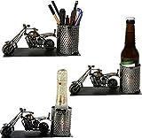 Flaschenhalter PICCOLO, Motorrad aus Eisen kupferfarben Weinflaschenhalter