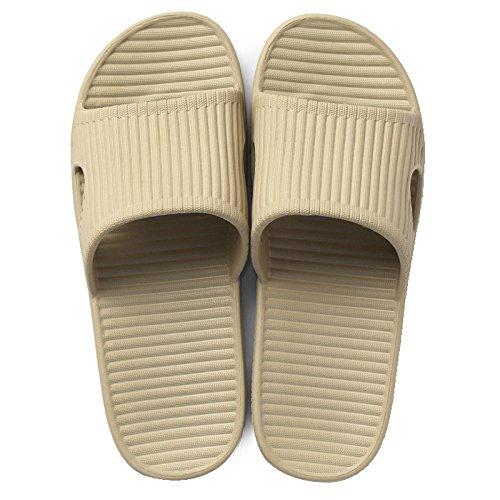 DogHaccd pantofole,Home pantofole home femmina con estate l'estate di spessore carino coppia di balneazione pantofole scivolose casa cool pantofole Kaki 3