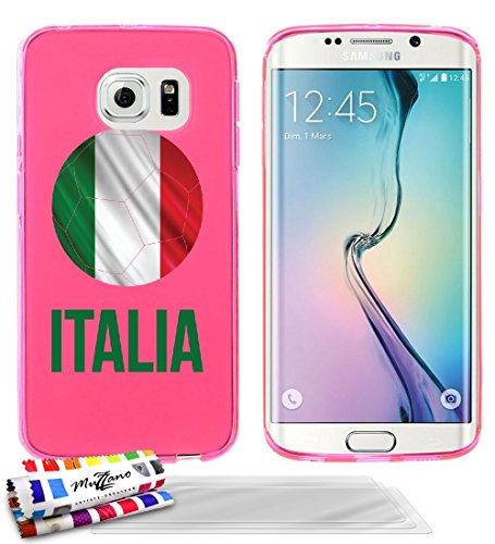 carcasa-flexible-ultra-slim-samsung-galaxy-s6-edge-de-exclusivo-motivo-balon-de-futbol-italia-rosa-d