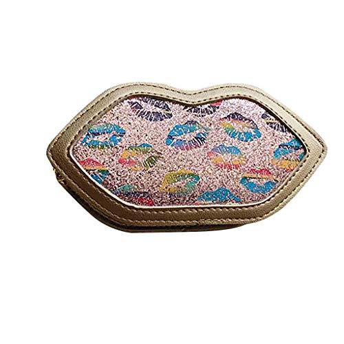 XZDCDJ Crossbody Tasche Damen UmhängeTaschen Daypacks Mädchen Kinder Süße Lippen Leder Umhängetasche Umhängetaschen Geldbörse Messenger Bag -