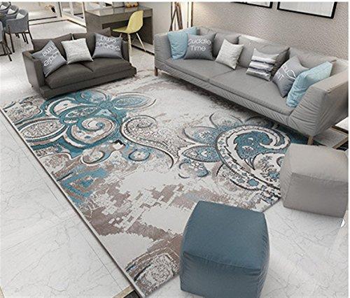 Ommda tappeti Salotto Soggiorno Moderni Home Stampa 3D tappeti Soggiorno Pelo Corto Antiscivolo Lavabili 80x120cm 9mm