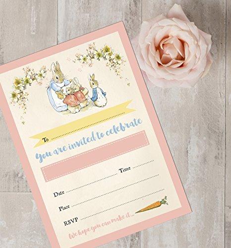 10Stück Beatrix Potter Flopsy Bunnies Einladungen