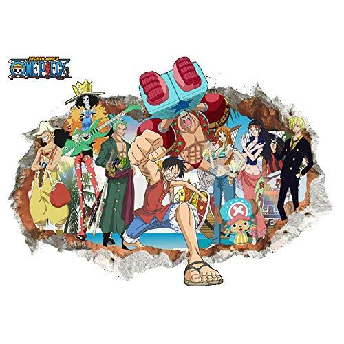 JUNMAONO One Piece Piratas Pegatina De Pared/PVC Póster De Pared/Mura