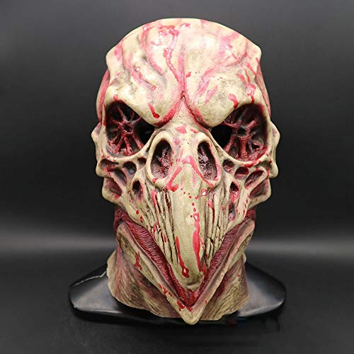 FWQAZ Halloween-Maske, Latex Maske Horror Maske für Halloween Cosplay Partei-Kostüm-Abendkleid (Großer Langer Mund)