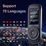 GXYGWJ Dispositif d'interprétation de Langue Intelligent, écran Tactile capacitif de 2,4 Pouces Prend en Charge la Machine de Traduction Gratuite multilingue Traducteur (Color : Black)...